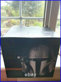 Star Wars The Mandalorian Black Series Premium Electronic Helmet IN HAND