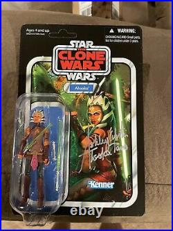 Star Wars The Vintage Collection Ahsoka VC102 Ashley Eckstein signed Unpunched