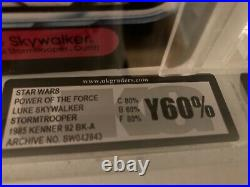 Star Wars vintage Luke Stormtrooper moc UKG not AFA