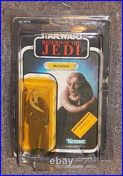 Vintage 1983 Star Wars Bib Fortuna Action Figure New In The Package & Star Case