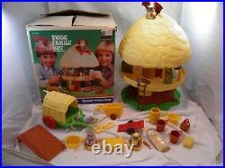 Vintage 1984 Star Wars Wicket EWOK Family Hut Tree House Return of the Jedi Toys