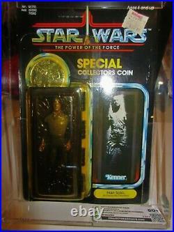 Vintage Star Wars Kenner 1983 POTF 92 Back CAS 80+ Han Solo Carbonite MOC $895