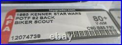 Vintage Star Wars POTF 1983 Last 17 Biker Scout MOC AFA Graded 80/85/80 $1695