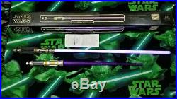 Vtg Rare Master Replicas Star Wars Mace Windu Force FX Purple Lightsaber With Box